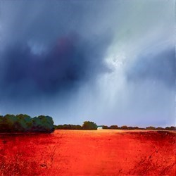 Red Heaven by Barry Hilton -  sized 20x20 inches. Available from Whitewall Galleries